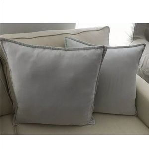 Pottery Barn Linen Pillow Covers (2) Light Blue